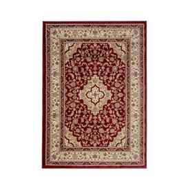 image-Antalya Traditional Rug Red, Beige and White