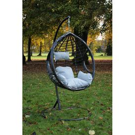 image-Giguere Garden Patio Swing Chair with Stand Bay Isle Home Colour (Frame): Black