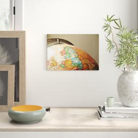 image-Globe World Map Photographic Print on Canvas Big Box Art Size: 35cm H x 50cm W