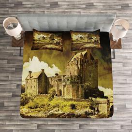 image-Fogg Medieval Bedspread Set with Cushion Cover Ebern Designs Size: W220 x L220cm