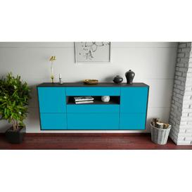 image-Granjeno Sideboard Ebern Designs Colour (Body/Front): Anthracite/Turquoise