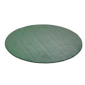 image-Round play mat KALLE, ├ÿ2500 mm, green