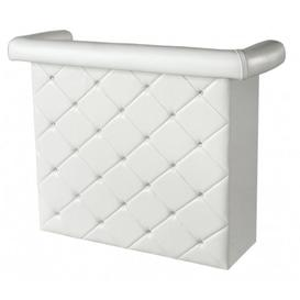 image-Charlie White Upholstered Studded Miami Bar Unit