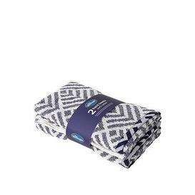 image-Silentnight Geo 2 Pack Hand Towels