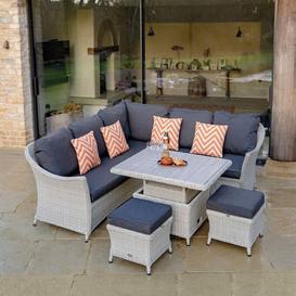 image-2019 Bramblecrest Monterey Outdoor Sofa Set With Adjustable Ceramic Garden Dining Table