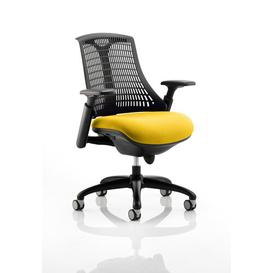 image-Flex Mid-Back Desk Chair Symple Stuff Colour: Sunrise/Black