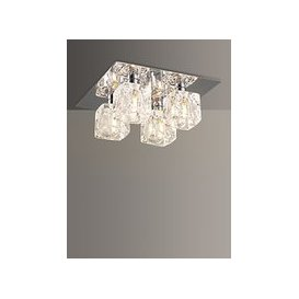 image-John Lewis & Partners Cuboid Semi Flush Ceiling Light