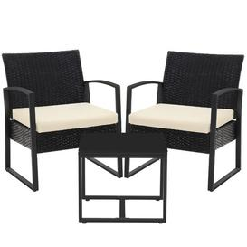 image-Geoffe 2 Seater Rattan Conversation Set
