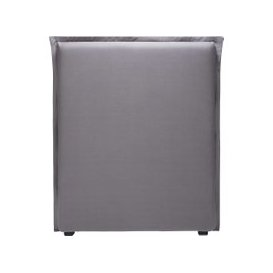 image-grey linen 90 headboard cover