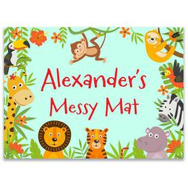 image-Personalised Jungle Messy Play Mat