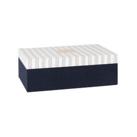 image-Blue and White Jewellery Box with Blue Stripes