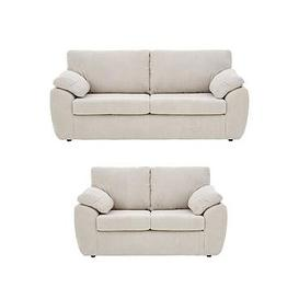 image-Dixie Fabric 3 Seater + 2 Seater Sofa Set (Buy And Save!)