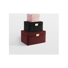image-Set of 3 Velvet Jewellery Boxes