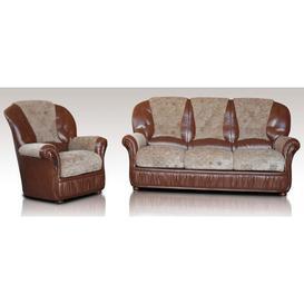 image-Texas Sofa Set 3+1 Genuine Italian Leather Fabric Sofa Suite Offer