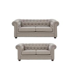 image-Oxford Fabric 3 Seater + 2 Seater Sofa Set (Buy And Save!)