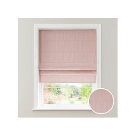 image-Faux Silk Blush Blackout Roman Blind Pink