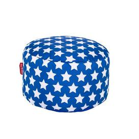 image-Blue Stars Footstool Blue and White