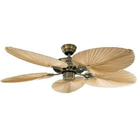 image-132cm Boutwell 5 Blade Ceiling Fan ClassicLiving Finish: Natural Palm