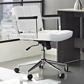 image-Baderbräu Ergonomic Desk Chair Blue Elephant Upholstery Colour: White