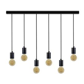 image-Davion 6-Light Kitchen Island Bulb Pendant Williston Forge Finish: Black