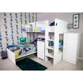 image-Wizard Single L-Shape Bunk Bed with Shelf Isabelle & Max