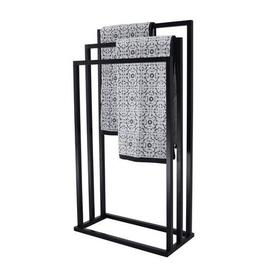 image-Black 3 Rail Free Standing Towel Holder Black