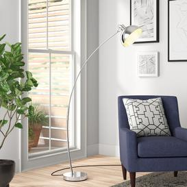 image-Brandie 160cm Arched Floor Lamp Zipcode Design Base Finish: Chrome, Shade Colour: Chrome