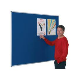 image-Aluminium Framed Noticeboard, Red