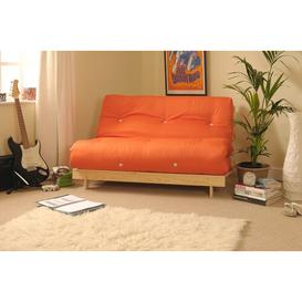image-Kaitlynn 2 Seater Futon Sofa Zipcode Design Upholstery Colour: Orange, Size: Double (4'6)