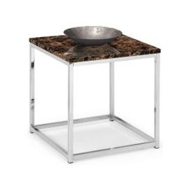 image-Julian Bowen Scala Bronze Marble and Stainless Steel Chrome Lamp Table