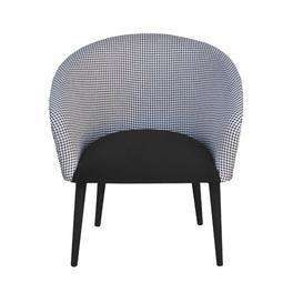 image-Plum Tub Chair Happy Barok Upholstery Colour: Black
