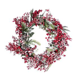 image-AMARA Christmas - Frosted Red Berries Wreath