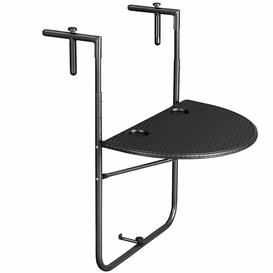 image-Marnell Folding Plastic Balcony Table Sol 72 Outdoor Colour: Black