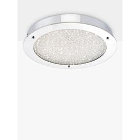 image-Där Peta LED Semi Flush Bathroom Ceiling Light, Large, Polished Chrome