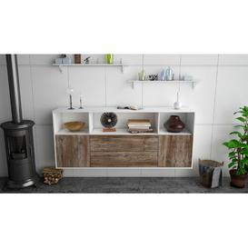 image-Stowmarket Sideboard Brayden Studio Colour (Body/Front): White Mat/Driftwood