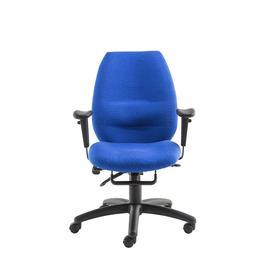 image-Trinity Blue Ergonomic Multi Functional Operators Office Chair