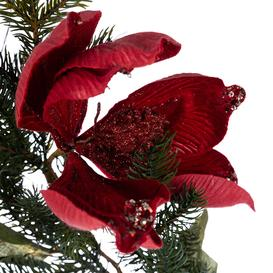 image-A by AMARA Christmas - Velvet Flower & Bird Garland