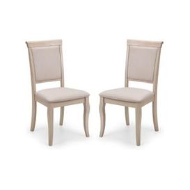 image-Lyon Pale Oak Upholstered Dining Chair In Pair