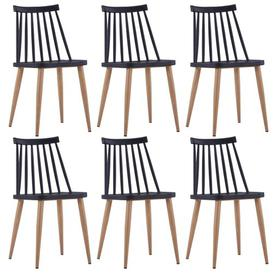 image-Simms Dining Chair August Grove Frame Colour: Black