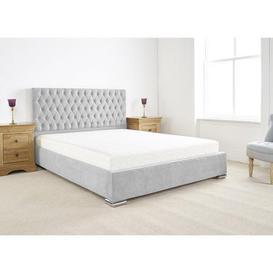image-Farnley Upholstered Bed Frame Silver