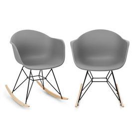image-Rocking Chair Set Blumfeldt Colour: Grey/Brown/Blue