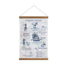 image-Arthouse Kid's Oceana Pirate Map Wall Art