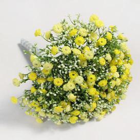 image-Artificial Million Star Gypsophila Yellow Bundle 30cm Yellow