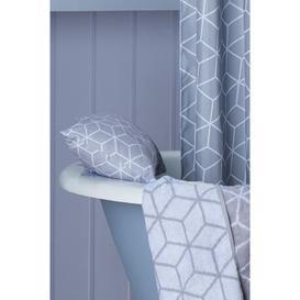 image-Grey Geo Bath Pillow