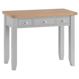 image-Suffolk Grey Painted Oak Dressing Table