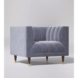 image-Swoon Willem Armchair in Taupe Easy Velvet