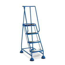 image-Mobile steps, anti-slip, 4 treads, H 1016 mm, blue