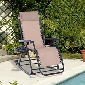 image-Tampa Garden Rocking Chair Sol 72 Outdoor Colour: Cream