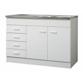 image-Matte Sink Unit Symple Stuff Colour: Beech, Size: 85cm H x 120cm W x 50cm D