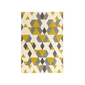 image-Asiatic Carpets Colt Machine Woven Rug Pyramid Mustard - 160 x 230cm